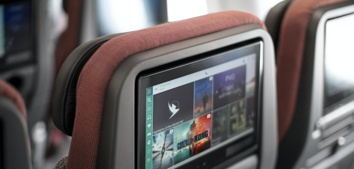 4k ultra hd seatback entertainment screens on cathay pacific's airbus a321neo