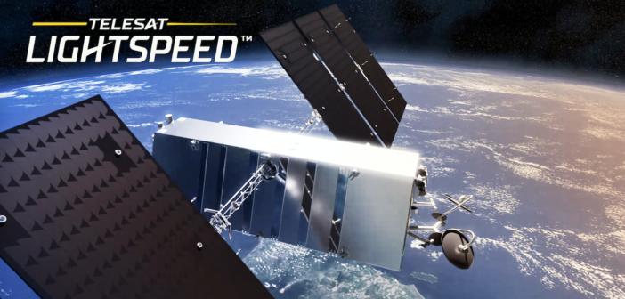 A Telesat Lightspeed Satellite orbiting in space